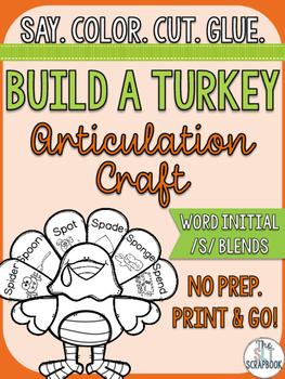 Thanksgiving/Christmas Themed Articulation Craft- No Prep-