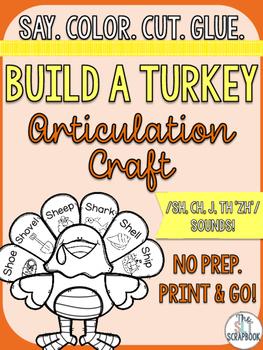 Thanksgiving/Christmas Turkey Articulation Craft- No Prep-