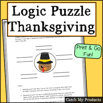 Thanksgiving Circle Logic For Intellectually Gifted Students