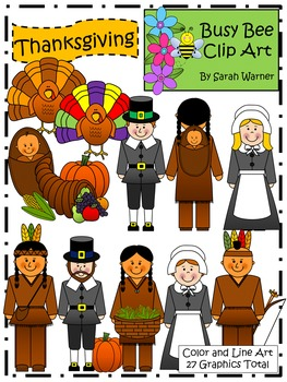 Thanksgiving Clip Art {By Busy Bee Clip Art}