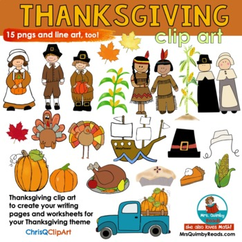 Thanksgiving Clip Art - ChrisQClipArt- For Pages and Products