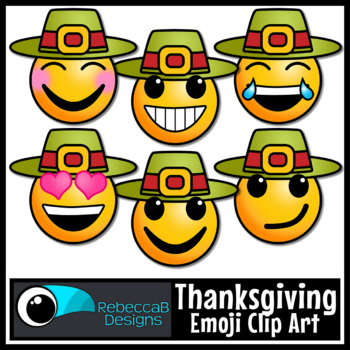 Thanksgiving Clip Art: Emoji Faces, Emotion Clip Art for T