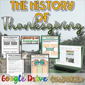 History of Thanksgiving:  Close Read and Writing Activity