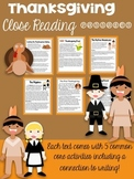 Thanksgiving Close Reading Bundle (6 Passages!)