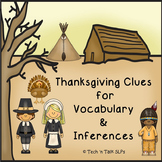 Thanksgiving Clues for Vocabulary and Inferences