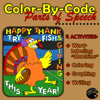 """Thanksgiving """"Color-By-Code"""" Parts of Speech"""