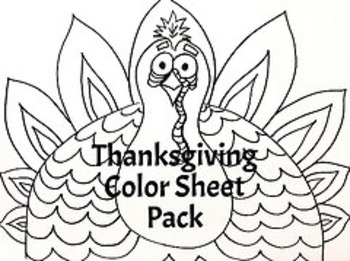 Thanksgiving Color Sheet 4 Pack