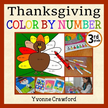 Thanksgiving Color by Number (third grade) Color by Multip