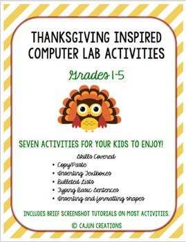 Thanksgiving Computer Lab Activities