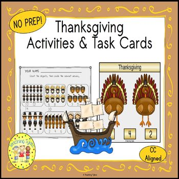 Thanksgiving Count and Clip Holiday Task Cards
