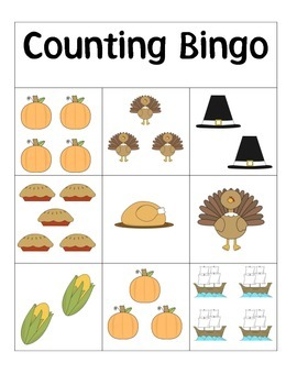 Thanksgiving Counting Bingo