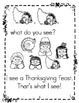"Thanksgiving Counting Book: Sight word ""see"" & #s (Pre-K,"