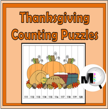 Thanksgiving Counting Puzzles - Numbers 1-120 - Autumn Act