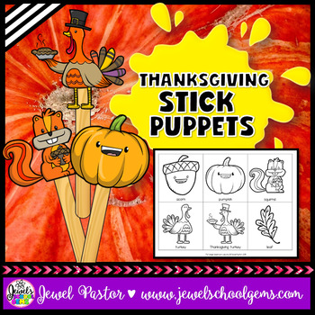 Thanksgiving Craftivities (Stick Puppets)