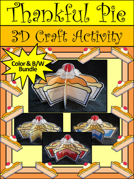 Thanksgiving Crafts: 3D Thankful Pie Thanksgiving Craft &