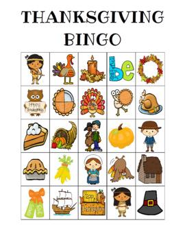 Thanksgiving Bingo Custom Printables