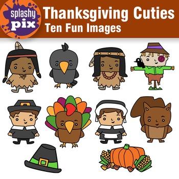 Thanksgiving Cuties Clipart