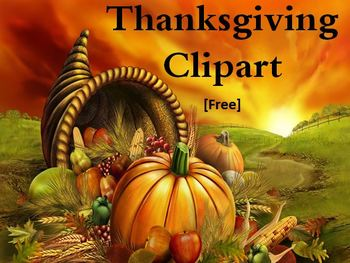 Thanksgiving Day Free Clipart Images (Black and White)