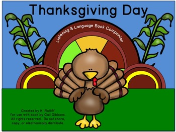 Thanksgiving Day :  Literacy, Language and Listening Book