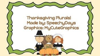 Thanksgiving Day Plurals