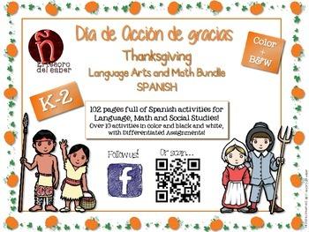 Thanksgiving Day - Spanish BUNDLE - Reading & Math - Acció