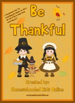 "Thanksgiving Devotion - ""Be Thankful"""