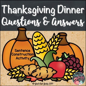 Thanksgiving Dinner- A FREE Question and Answer Sentence C