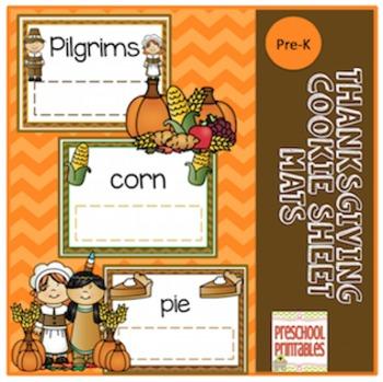 Thanksgiving Dinner Cookie Sheet Mats