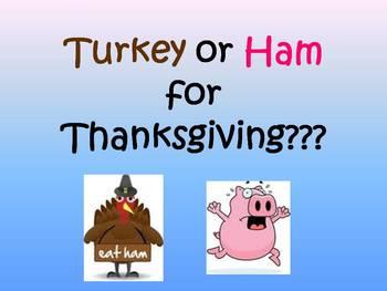 Thanksgiving Dinner Creative Writing