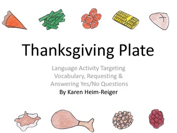 Thanksgiving Dinner Plate Language Activity