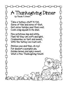 Thanksgiving Dinner Poem