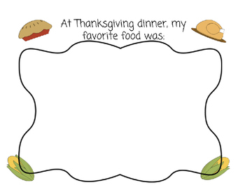 Thanksgiving Dinner Writing/Drawing Pack