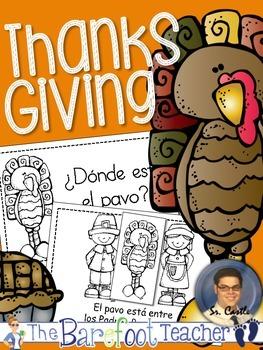 Thanksgiving ¿Dónde está el pavo? Positional Words Emergen