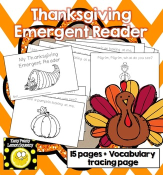 Thanksgiving Emergent Reader + Vocabulary Page