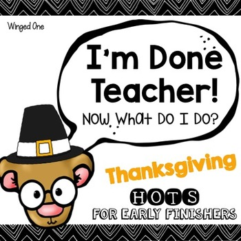 Thanksgiving Early Finishers Enrichment Activities - I'm D