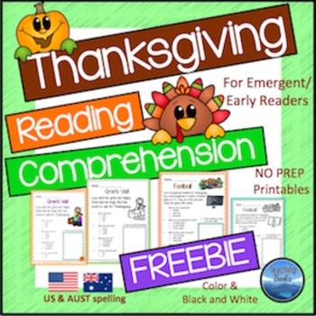 Thanksgiving Reading FREE
