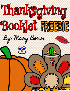 Thanksgiving Booklet FREEBIE by Mary Brown