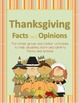Thanksgiving Facts and Opinions