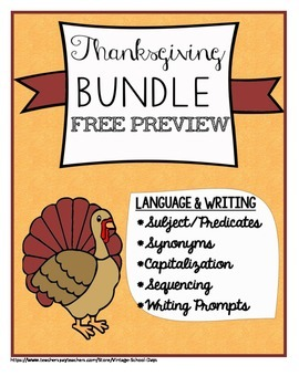 Thanksgiving Fall Synonyms Capitalization Sequencing Subje