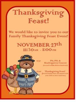 Thanksgiving Feast Flyer / Invitation