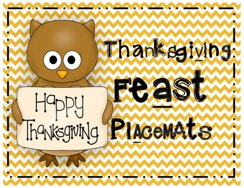 Thanksgiving Feast Placemats!