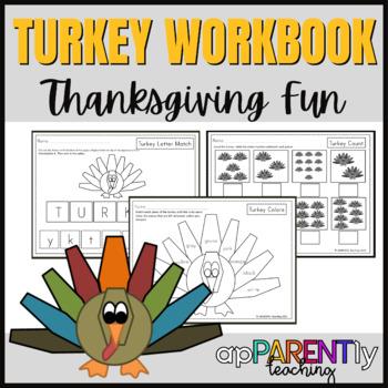 Thanksgiving Worksheets for Kindergarten and First Grade-