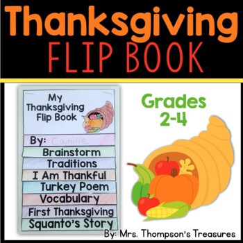 Thanksgiving Activities - Flip Book (2nd-4th)