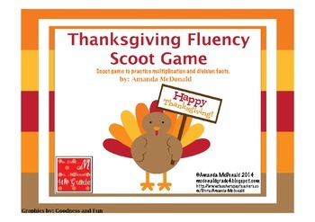 Thanksgiving Fluency Scoot Game