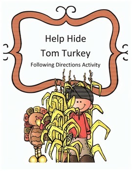 Thanksgiving Following Directions Activity:Have Kids Help