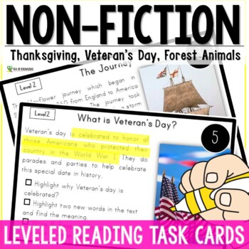 Thanksgiving, Forest Animals, Veteran's Day Nonfiction Rea