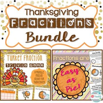 Thanksgiving Fractions Bundle. Thanksgiving Fraction Game