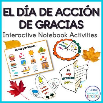 Thanksgiving Activities in Spanish {Interactive Notebook}