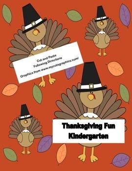 Thanksgiving Fun For Kindergarten Following Directions Cut