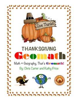 Thanksgiving GEOMATH, Math + Geography = FUN!
